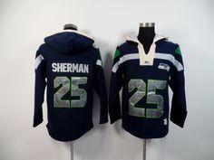 Men's Nike NFL Seattle Seahawks #25 Richard Sherman 2015 New Navy Hoodie http://www.wholesalejerseyclearance.com/nfl-seattle-seahawks_gc161_1_15.html