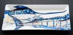Blue Marlin Tandem Rectangular Platter - beautifully handcrafted! #coastalgifts #coastalliving