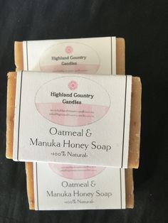 100% natural scented soap Perfect for sensitive skin. Scents include lavender, rose and geranium and oatmeal and Manuka honey.