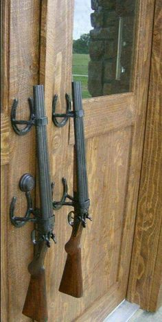 Shot gun door handles