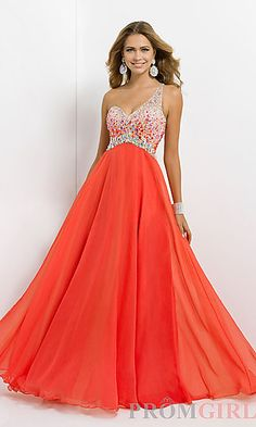 Open Back Beaded One Shoulder Gown by Blush 9726.... My second favorite prom dress I have found so far