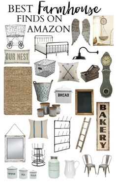 The best farmhouse finds on Amazon | Farmhouse Decor | Decorating the Farmhouse…
