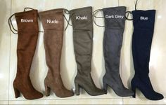 Sexy Fashion Stretch Faux Suede Over the Knee Boots
