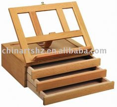 Wooden Tabletop Easel with Drawers, View tabletop easel, Julie's Art Product Details from China Arts Hangzhou Import And Export Corporation on Alibaba.com My Art Studio, Studio Ideas, Ideas Para, Diy Ideas, Pochade Box, Art Easel, China Art, Diy Box, Wildlife Art