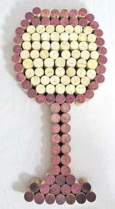 Reserved for Heather - 2x Wine Cork Wine Glass Art - White and Red Wine Glass Styles via Etsy