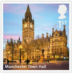 Manchester - Manchester Town Hall on a Stamp