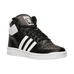 Women's adidas Top Ten Hi Casual Shoes ($90) ❤ liked on Polyvore featuring shoes, sneakers, high top trainers, leather hi tops, retro high top sneakers, high top sneakers and adidas trainers