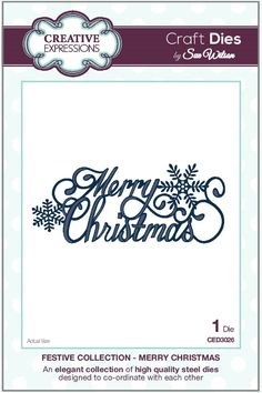 Creative Expressions Craft Dies By Sue Wilson - Festive Collection - Merry Christmas