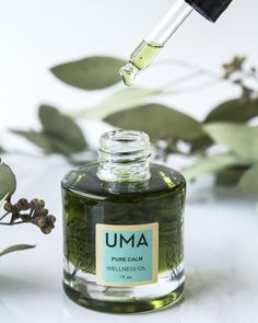 Pure Calm Wellness Oil-Powerfully and naturally relieve nighttime restlessness. Created for those looking to thoroughly unwind at bedtime, without causing dependence or side effects. Supports day to night transition and restfulness for a full night's sleep.#UMA #BeautyHeroes #greenbeauty