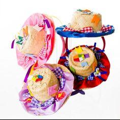 Tiara mini chapéu caipira...pra fazer sucesso no Arraia!