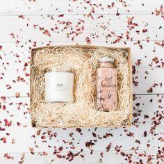 Shop our gift boxes made especially for your spa at home.