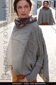 A Swoncho - easy to knit and wear, versatile and confortable -DiaryofaCreativeFanatic