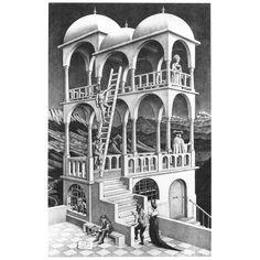At the MC Escher Art Gallery in San Francico Op Art, Modern Art, Escher Art, Fine Art, Dutch Artists, Art, Illusion Art, Lithograph, Pictures