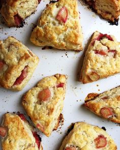 Strawberry-Rhubarb Scones   Simple Bites