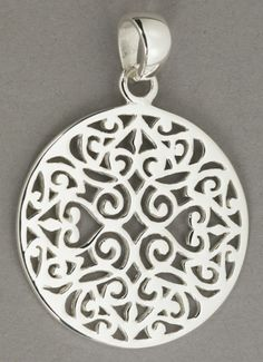 CRUCIFIX OF FLOWERS P843...PACK OF 6 ANTIQUED SILVER PLATED PENDANTS