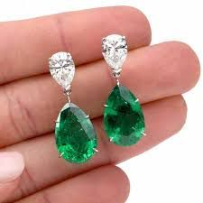 Shop diamond and pearl dangle earrings and other vintage and antique earrings from the world's best jewelry dealers. Platinum Earrings, Emerald Earrings, Emerald Jewelry, Antique Earrings, Diamond Jewelry, Antique Jewelry, Dangle Earrings, Pear Shaped Diamond, Pear Diamond