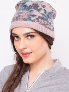 Pieces Floral Beanie Cap purchase online from koovs.com. KOOVS · winter  caps online for women 999c42f75e7