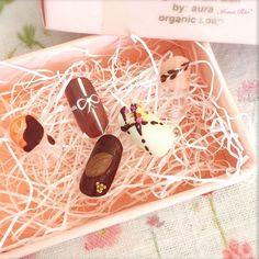 とろける幸せ♡ホッペが落ちちゃう冬のチョコレートネイル♡ - Itnail