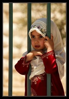 Young girl in traditional dress ~ Nazareth, Israel....::