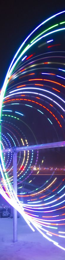 Spinning LED Art - Burning Man 2013 - Photography by Cliff Baise