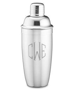 Williams - Sonoma: Monogrammed Stainless-Steel Cocktail Shaker