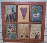 Primitive Decorating Ideas | Garden Windowpane Wallhanging Primitive Decor Rustic Home Accents
