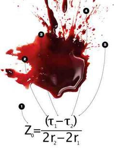 The forensics of blood spatters: A new formula using high school trig and introductory physics helps investigators determine whether a victim took a blow standing up. Forensic Psychology, Forensic Science, Physics Help, Criminal Profiling, Detective, Matter Science, Forensic Anthropology, Criminal Law, Criminal Justice System