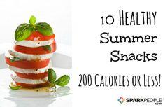 10 Healthy, Low-Calorie Summer Snacks via @SparkPeople