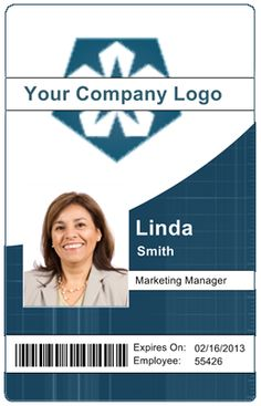 43 best employee id card images on pinterest employee id card passport motion graphics employee id card templates badge template badge design friedricerecipe Gallery