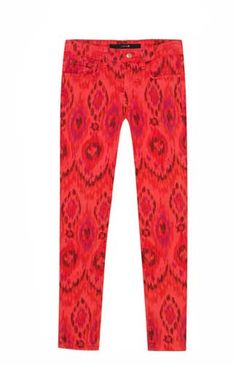 Joe's Jeans Printed Denim in Geranium Tribal