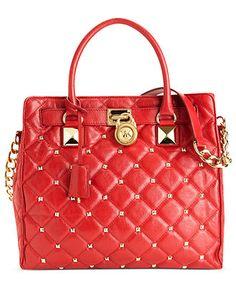 MICHAEL Michael Kors Handbag, Hamilton Quilted Large Tote - Shop All - Handbags & Accessories - Macy's