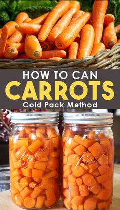 Get the recipe for pressure canning carrots at home with the cold pack method. Create a well stocked pantry with this simple pressure canning recipe for beginners! Canning carrots is easy and safe! #Recipes #FromScratchRecipes #Canning #PressureCanning #ForBeginners