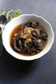 ... wild mushroom soup white bean soup white bean soup with wild mushrooms