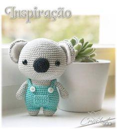 Inspire-se!!! Crochet Animal Patterns, Stuffed Animal Patterns, Crochet Patterns Amigurumi, Crochet Animals, Knitting Patterns, Crochet Bear, Crochet Toys, Crochet Things, Catania