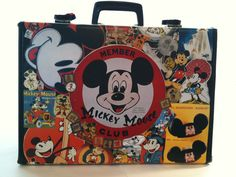 Mickey Mouse Upcycled Vintage Suitcase by NovelCreations on Etsy, $49.99