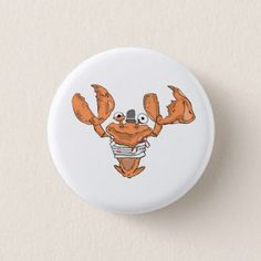 Crab Monster love Pinback Button - love gifts cyo personalize diy