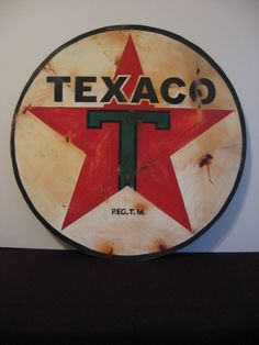 Texaco sign in the barn for my Dad....Love my Pop...