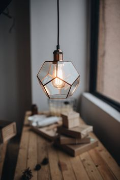 Your place to buy and sell all things handmade Lustre Industrial, Industrial Style, Industrial Lamps, Loft Lampe, Geometric Lamp, Origami Lamp, Copper Lamps, Handmade Lamps, Lamp Socket