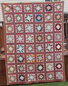 Antique 1800's Star Pattern Quilt Civil War Era | eBay, whisper-hill