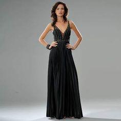 Formal Gallery- -Black Evening Dress. Womens Long Evening Gown. Beaded Prom Dress. Black Cocktail Dress (70163) Black