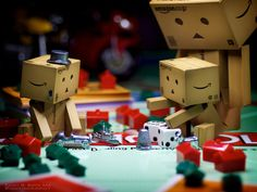 Will Trade A Thimble For The Car.    My Little Danbo Family has been into playing Monopoly lately.