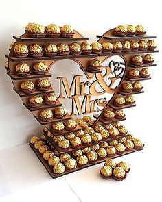Ferrero Rocher Heart Tree With Removable Centre Many Variations holds 180 in Home Furniture & DIY Wedding Supplies Centerpieces & Table Decor Diy Wedding Supplies, Sweet Corner, Heart Tree, Wedding Sweets, Chocolate Bouquet, Candy Bouquet, Candy Gifts, Chocolate Gifts, Diy Birthday