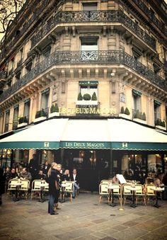 Les Deux Margots - Another famous literary cafe in Paris that attracted the likes of Hemingway and Piccaso - Sara