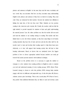 thesis proposal The Effectiveness Of KWL Strategy In Reading Compreh… Reading Comprehension, Thesis, Proposal, Student, Reading Response