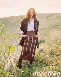 Krystal explores the beautiful landscape of Jeju Island with 'Marie Claire' | allkpop.com