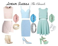 """Scream Queens - The Chanels"" by costume-creativity on Polyvore featuring Bling Jewelry, Precis Petite, Ted Baker, Glamorous, Chicwish, John Zack, Steve Madden, Semilla, Chinese Laundry and ZooShoo"