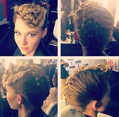 I just wanted to show some more hairstyles that I did in every angle on this braided hairstyle that I did at the TRESemme salon!!