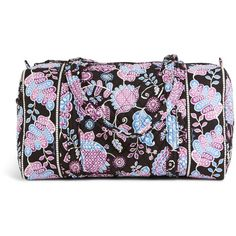 Vera Bradley Small Duffel Travel Bag in Alpine Floral ($68) ❤ liked on Polyvore featuring bags, luggage, alpine floral, sale and travel