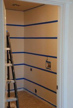 taping paint treatment horizontal stripes