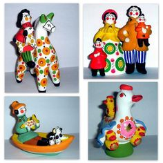 Painted clay.Dymkovo toy